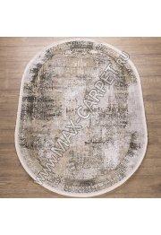 Турецкий ковер из вискозы Elexus Olimpos 1920 цвет BEIGE Oval