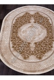 Турецкий ковер QUANTUM 03014B — BROWN / BROWN — Овал