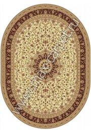 Шерстяной молдавский ковер Classic Isfahan 207-1659 овал