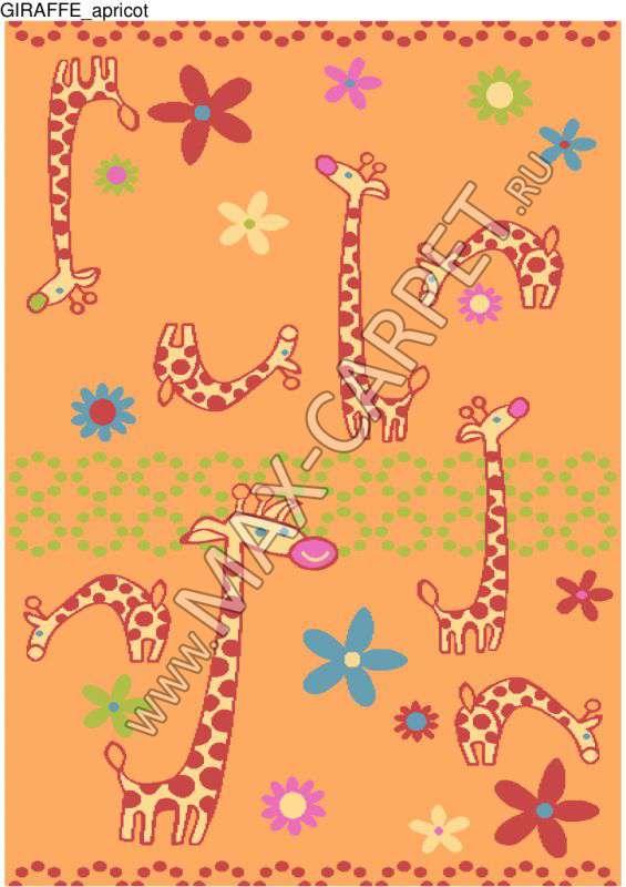 Детский ковер Funky Giraffe a apricot