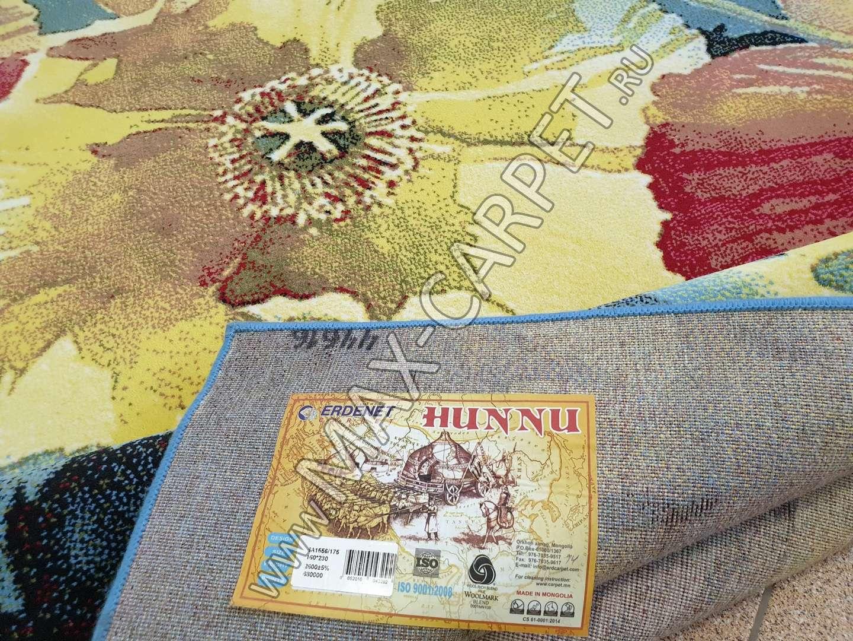 Монгольский шерстяной ковер Hunnu 6A1556 175