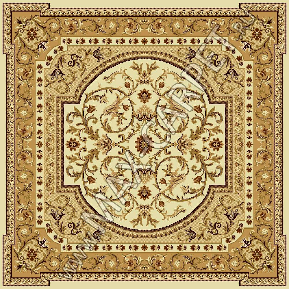 Молдавский ковер из шерсти European Ermitage 265-1149 Квадрат