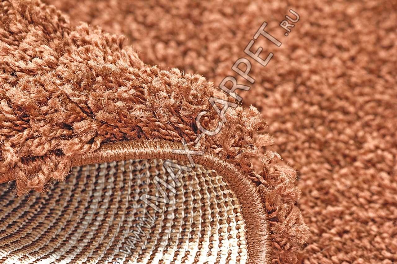 Длинноворсовый ковер Shaggy Ultra S600 — BROWN Krug