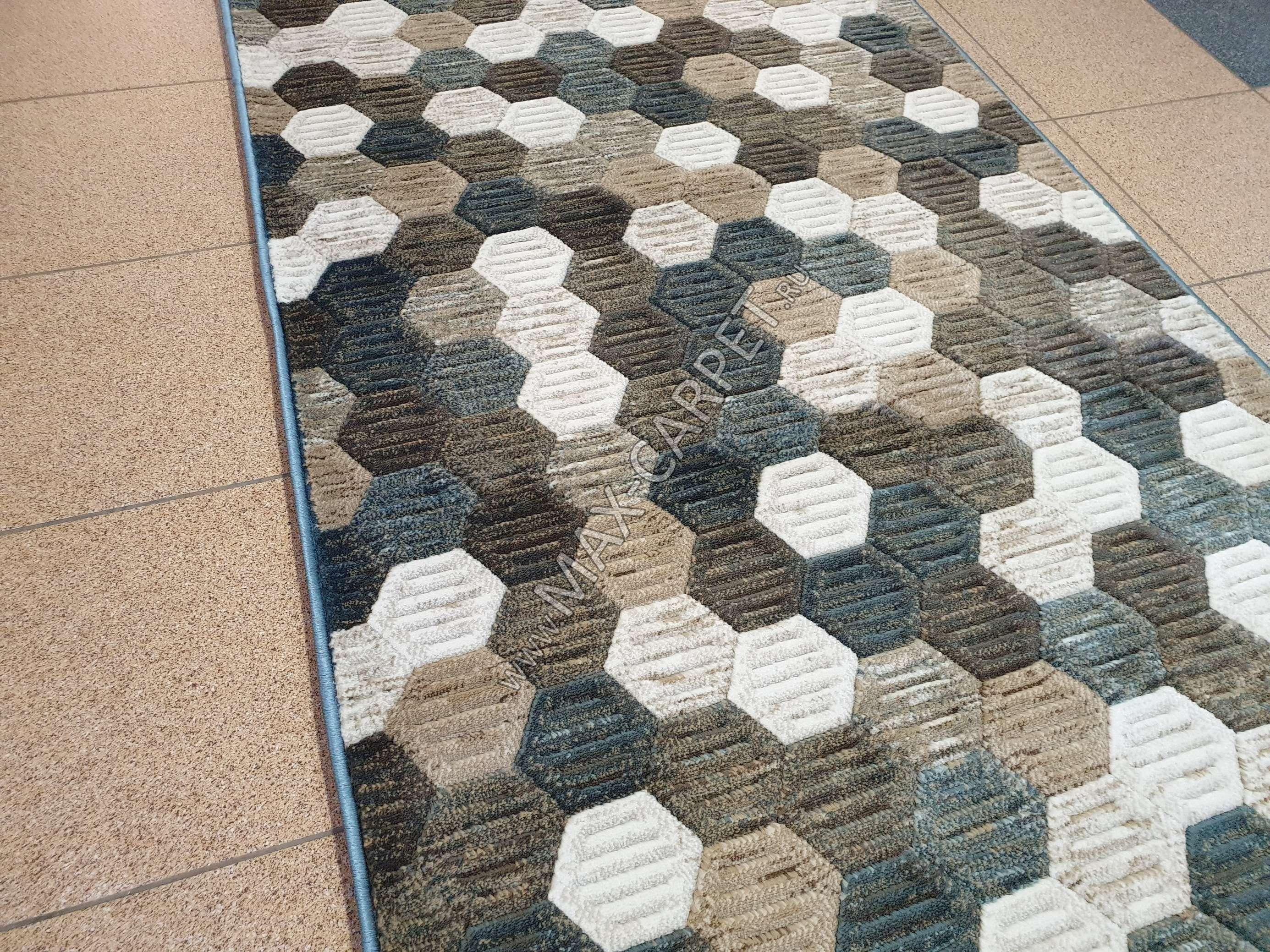 Ковровая дорожка Matrix D579 — BEIGE-BLUE