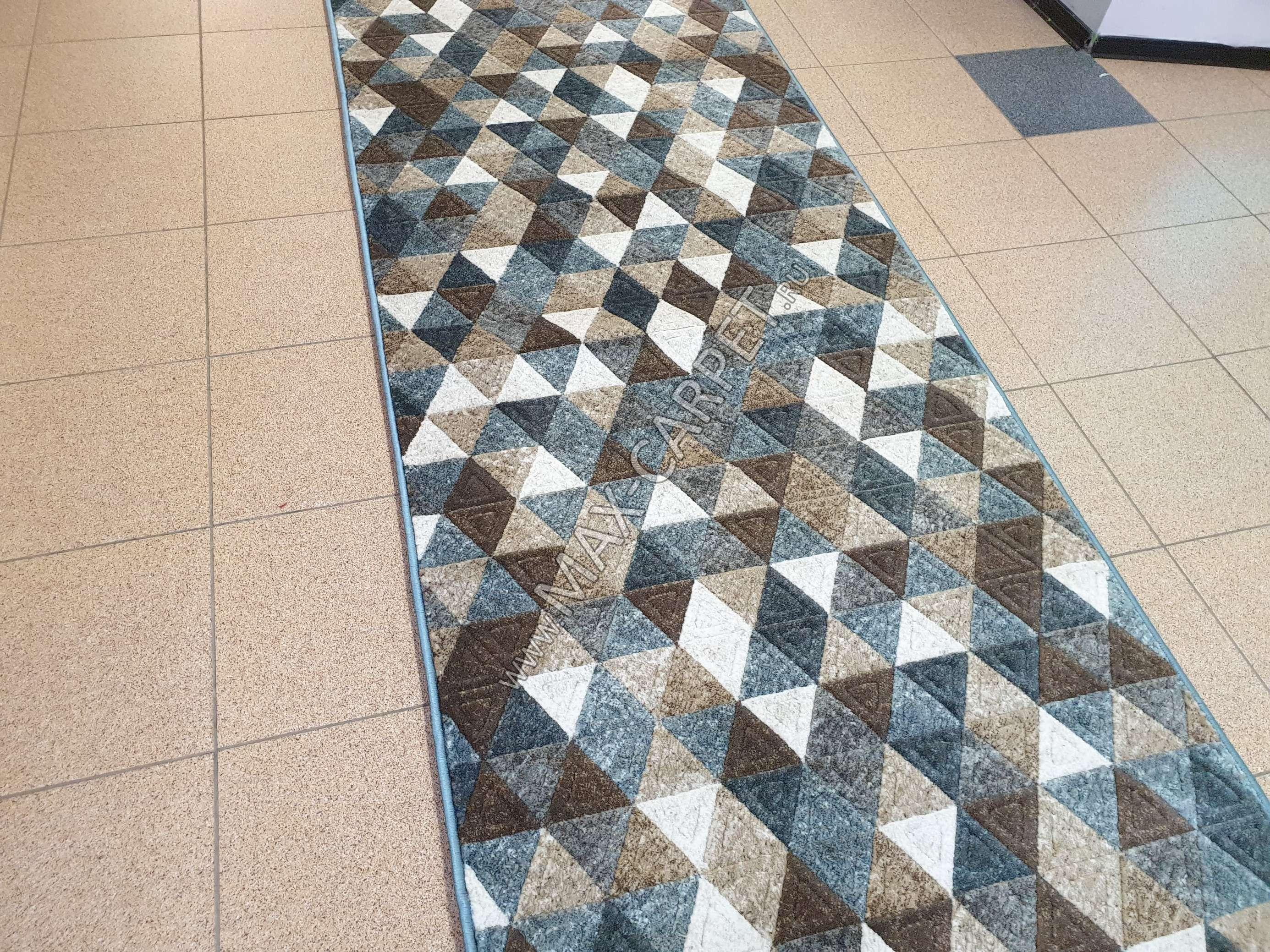 Ковровая дорожка Matrix D578 — BEIGE-BLUE