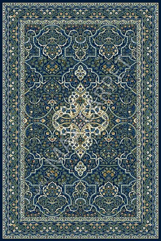 Польский ковер из синтетики Agnella Standard Laurus navy blue