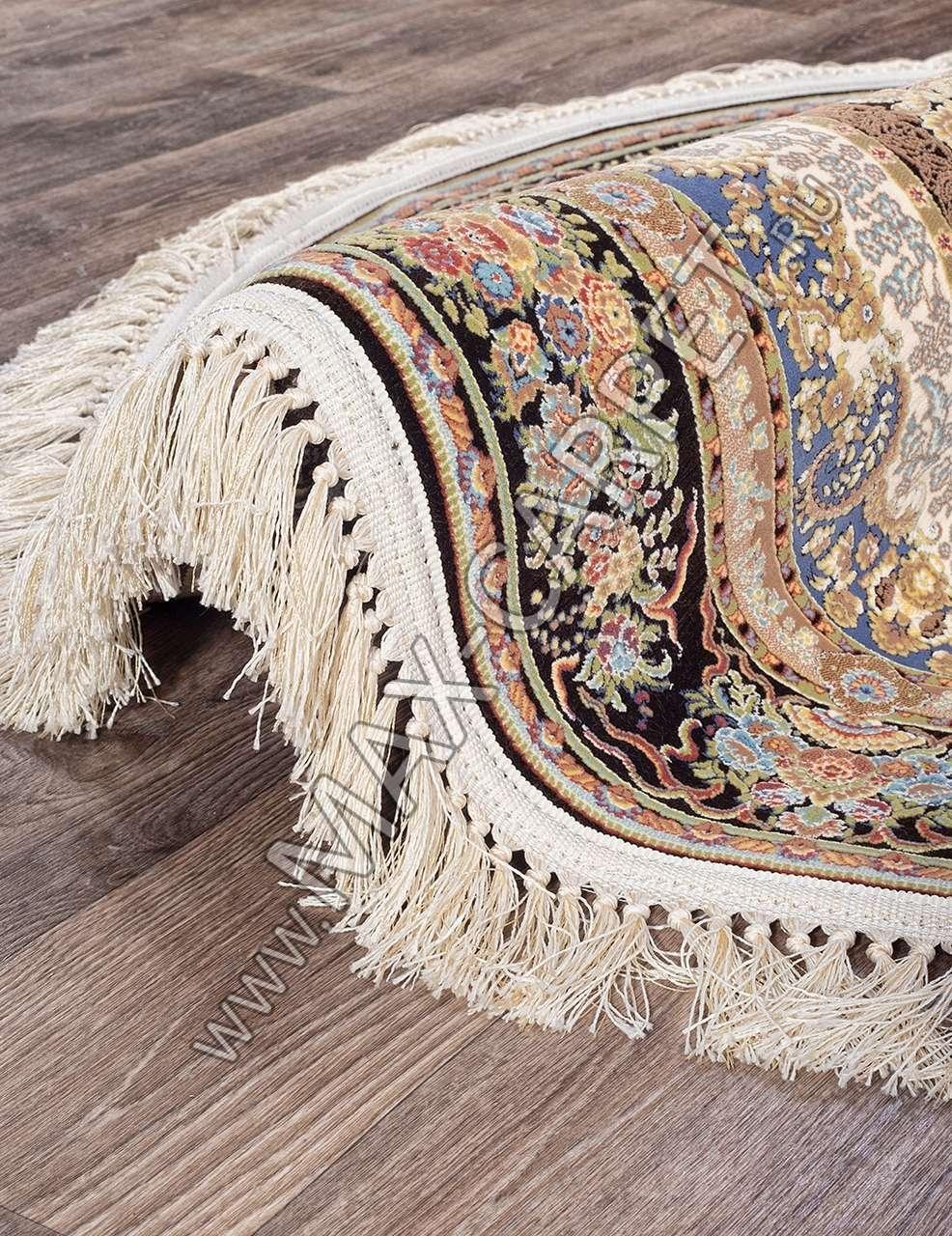 Иранский ковер из бамбука SHIRAZ Tina — BROWN Krug