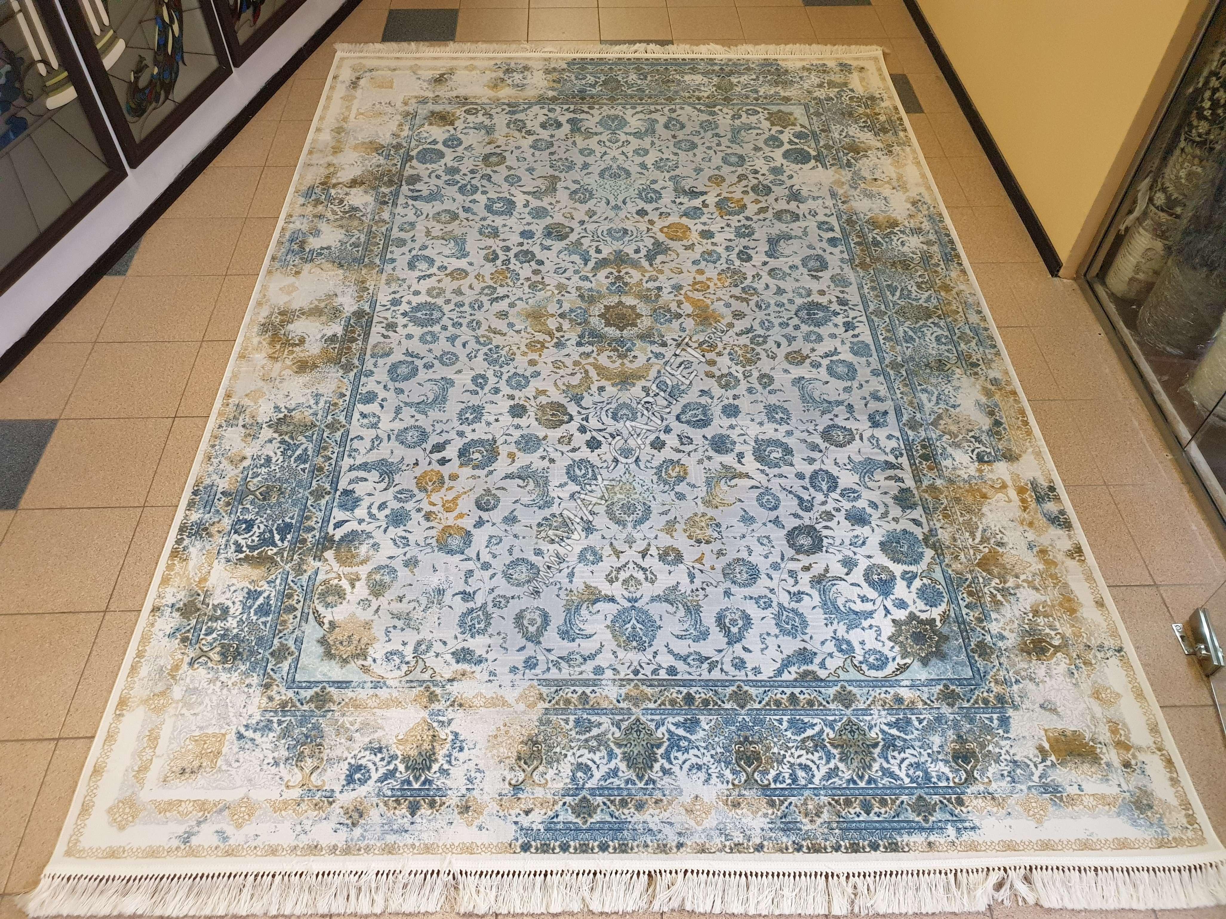 Иранский ковер из бамбука  SHIRAZ 9814 — BLUE