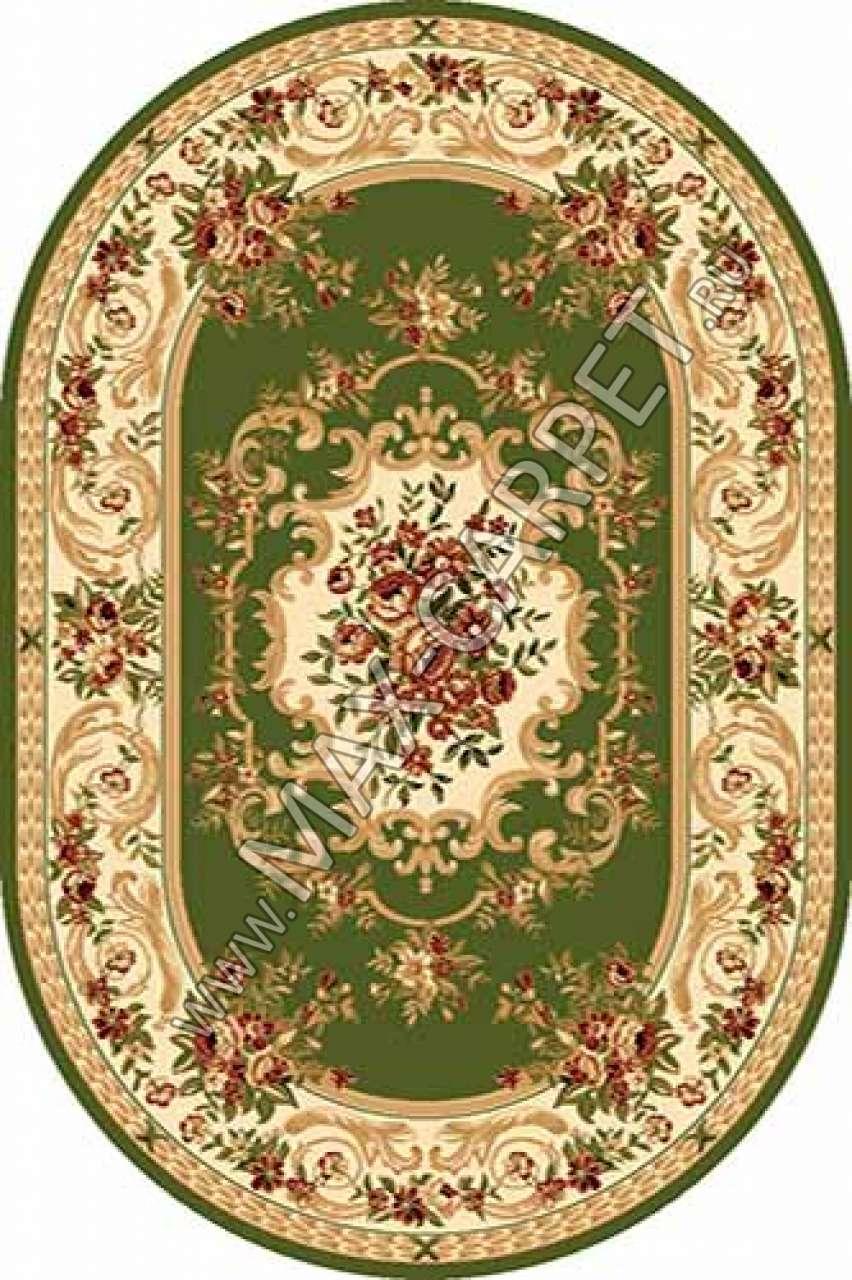 Российский ковер Buhara OLYMPOS d057 — GREEN Овал