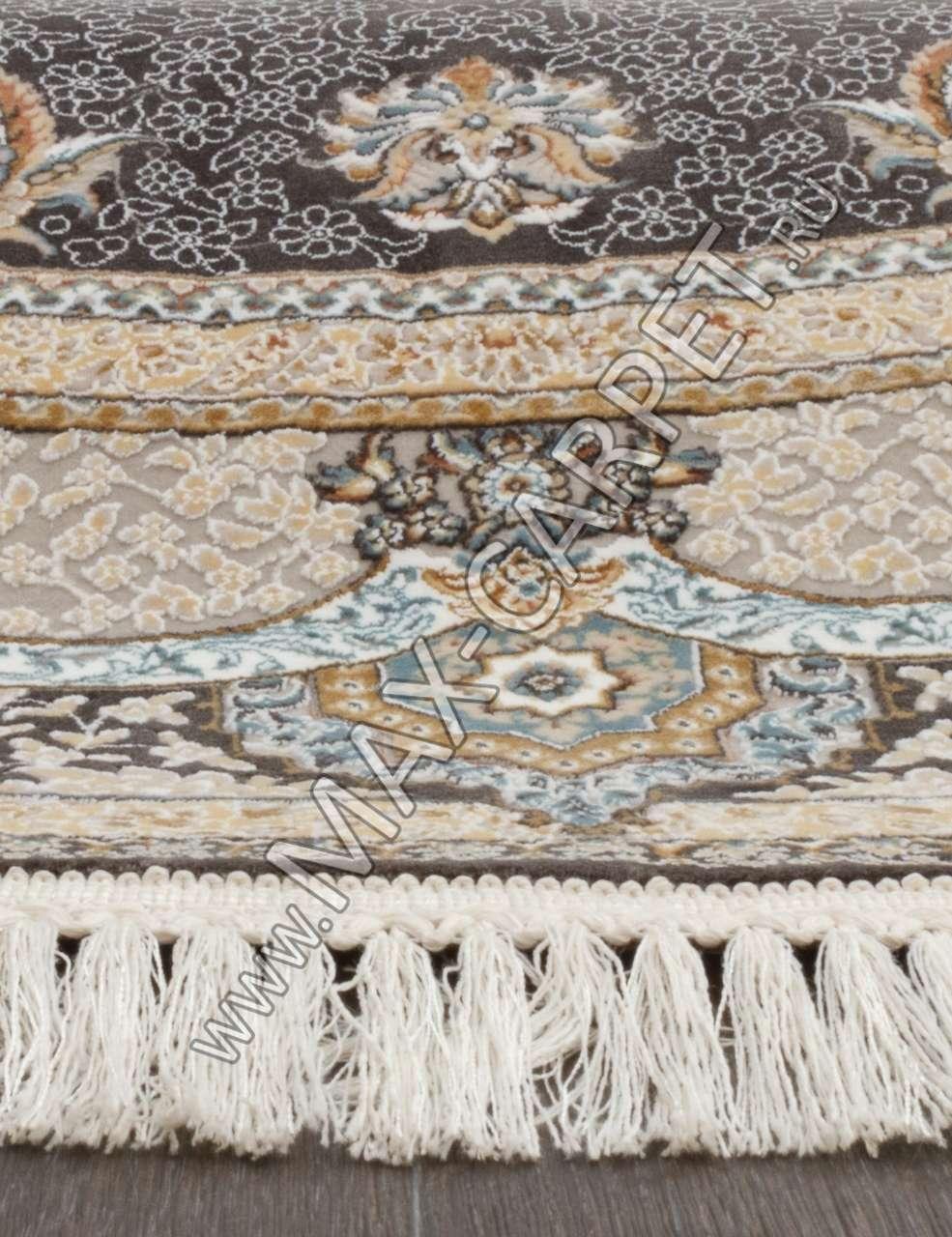 Иранский ковер из бамбука FARSI 1200 G122 — DARK GRAY — Овал