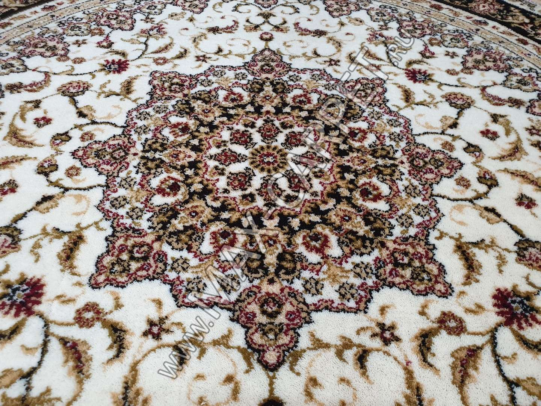 Шерстяной молдавский ковер Classic Isfahan 207-1659 круг